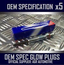 5 x OEM DIESEL GLOW PLUGS FGP652 FOR VOLVO XC90 2.4 2002-05