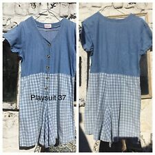 Denim Playsuit Shorts Vintage Unique Excellent Condition