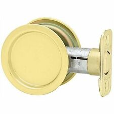 NEW Kwikset Round Passage Pocket Door Handle Polished Brass 334 LOTS MORE LISTED