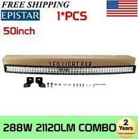 "50""IN 288W Curved LED Work Light Bar Driving Offroad TRUCK 4WD SUV 240W 250W 51"""