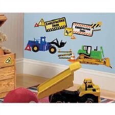 CONSTRUCTION TRUCKS wall stickers 37 decals decor signs cement bulldozer crane +