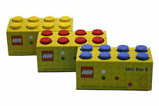 LEGO MINI 8 STORAGE BOX FOR SMALL SNACKS - 9 COLOURS FREE P&P CHECK SIZE PLEASE
