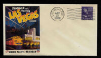 1950s Union Pacific Las Vegas Casino Ad Featured on Collector's Envelope *OP1343