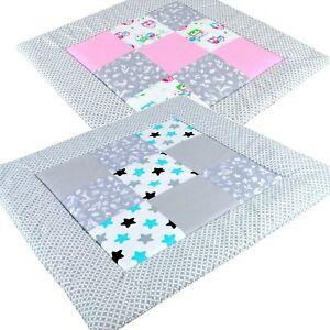 BABYLUX Spieldecke Patchwork KRABBELDECKE 110 x 110 cm Kinderdecke Baby Decke