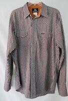 Wrangler Twenty Xtreme Pearl Snap L/S Shirt Plaid Western Cowboy USA Sz LG