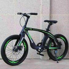 "DOUBLE DISC Brake 20"" Kids Mountain Bike Green & Black magnesium alloy frame"