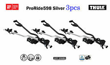 3pack THULE ProRide598 -Silver roof top upright bike carrier-City Crash tested