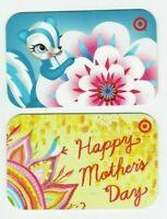 Target Gift Card LOT of 2 - Skunk 2006, Mother's Day 2009 - Older / No Value