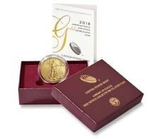 2018 American Eagle 1-Oz Gold Uncirculated Coin--w/ US Mint Box & COA (#10132)