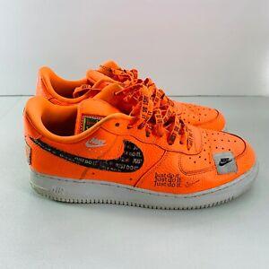 Mens Nike Air Force 1 Low Just Do It Pack JDI Total Orange 2018 AR7719-800 Sz 12