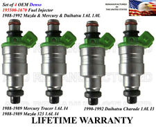 4X Genuine Denso Fuel Injectors For 1988-1992 Mazda Mercury Daihatsu 1.6L 1.0L