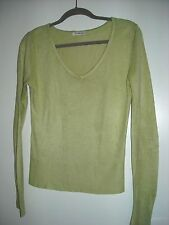 George Long-Sleeved Lime Green V-Necked Sweater Size 8