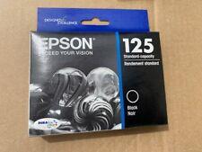 Epson 125 Black Ink Cartridge T125120 Genuine OEM, Sealed, Best by Date 10/2019