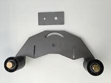 """Belt Grinder D-backing plate for 2x72"""" knife making grinder with idler wheels"""
