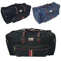 "LARGE MENS 22"" TRAVEL OVERNIGHT HAND LUGGAGE BAG GYM SPORTS HOLDALL DUFFLE"