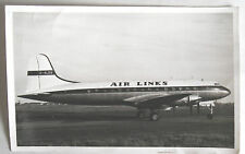 1960s B/W Photograph. (The Last) Handley Page Hermes Airliner. G-ALDA. AIR LINKS