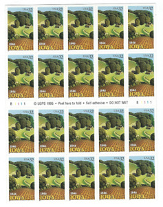 Scott # 3089...32 Cent...IOWA... Unfolded Booklet With 20 Stamps