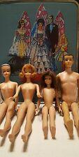 VTG 60s Case Wig Barbie Midge Skipper Ken Accessories 3 Wigs
