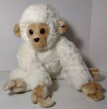 "Gund 1980 White Monkey Ape Chimp Plush Stuffed Animal Korea Sits 10"" Tall"