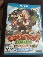 NINTENDO DONKEY KONG COUNTRY TROPICAL FREEZE WII U - TESTED