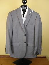 $650 New Jos A Bank JOSEPH grey & dark check suit 41 L 35 W Slim fit