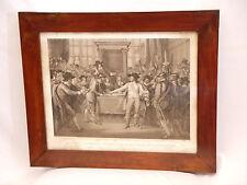 Schöner alter Stich: Oliver Cromwell..1599-1658.. im Mahagoni-Rahmen