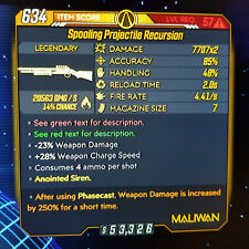(Xbox) Borderlands 3 [57/MAYHEM 10] Projectile Recursion X2 (Fire/Cryo) (250%)