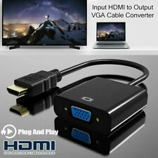 Gold Plated HDMI to VGA Adapter For Projector HDTV Chromebook Raspberry Pi Roku