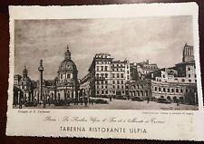 Estate Sale - Vintage 1940s Basilica Taberna Ristorante ROME Postcard Unposted