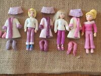 Polly Pocket Dolls Winter Weather Lot Snow Set Clothes Outfits 6-26