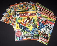 Inhumans #1 2 3 4 5 6 7 8 9 10 11 12 #1-12 1975 COMPLETE SERIES RUN SET FreeShip