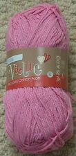 6 X 100g Balls King Cole Big Value Recycled Cotton Aran Shade 1159 Blossom Pink