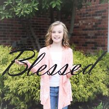 Blessed Metal Wall Decor, Metal Word Art, Blessed Cursive Wall Hanging