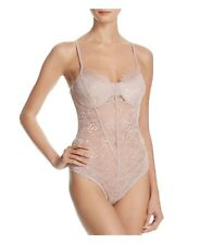 NWT GUESS Tony Sheer Lace Bustier Bodysuit Dusty Rose Size M