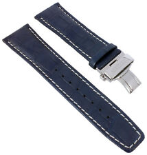 Citizen Calendrier | Uhrenarmband Leder blau 23mm Krokooptik für BU2020-11A