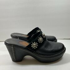 Ariat Women's Black Leather  Studded Slip On Clog Mules Size 7.5B