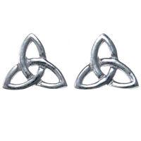 Sterling Silver Trinity Celtic Earrings with Gift Box - Stud Earrings