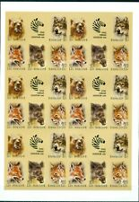 SU. USSR Zoo 1988 Birds,  sheet of  6 x block of 6 imperforated