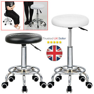 Adjustable Stool Height Swivel Chair Office Chair Round Desk PC Stool UK