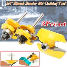 "3Pcs/Set 1/4"" Shank Ogee Raised Panel + Rail & Stile Router Bits Cutting Tools"