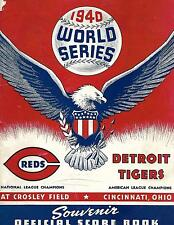 1940 World Series Program Reds-Tigers Games 1-2, 6-7 Reds Champs in 7!!