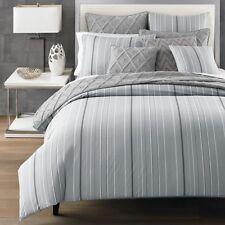 NEW Oake Bedding Astor 100% Cotton Percale TWIN Duvet Cover Grey $260 G2819