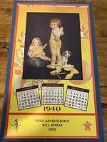 1940 Poll Parrot Shoes Advertising Calendar Salesman Sample