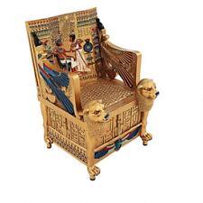 Egyptian Pharaoh King Tutankhamun Tut Throne Jewelry Treasure Box