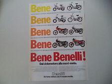 advertising Pubblicità 1979 BENELLI G-2 50/EXPORT/MAGNUM/254/900 SEI/125 2C/354