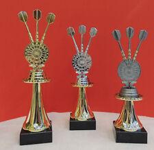 3er Serie Pokale Dart  Pokal gold silber bronze inkl.Gravur