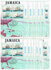 15 MNH Souvenir sheets Jamaica Scott # 382A  Mail Boats  Cat $6.00 each