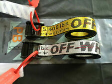 NEW OFF WHITE Tie Down Nylon Cotton IRON Head Industrial Belt 120/150/200cm