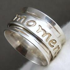 LIVE THE MOMENT Spinner US 9 Mantra SilverSari Ring Solid 925 Stg Silver SPR1007