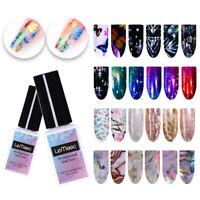 Holographic Foil & 8ML Adhesive Glue Stars Nail Foil Sticker Transfer Glue Tool